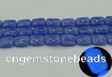 CLU204 15.5 inches 15*20mm rectangle blue luminous stone beads