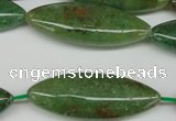CME05 15.5 inches 15*40mm marquise green garnet gemstone beads