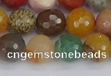 CME103 15.5 inches 10mm faceted round mixed gemstone beads