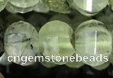 CME206 15.5 inches 7*9mm - 8*10mm pumpkin prehnite beads