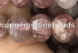 CME208 15.5 inches 7*9mm - 8*10mm pumpkin strawberry quartz beads