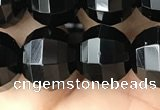 CME243 15.5 inches 10*11mm - 10*12mm pumpkin black quartz beads
