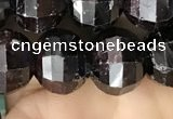 CME244 15.5 inches 10*11mm - 10*12mm pumpkin garnet beads