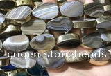 CME526 12 inches 18*28mm - 20*30mm flat teardrop banded agate beads