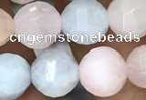 CMG308 15.5 inches 8mm faceted round morganite beads