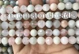 CMG380 15.5 inches 10mm faceted round morganite gemstone beads