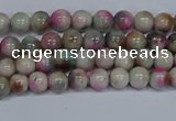 CMJ491 15.5 inches 4mm round rainbow jade beads wholesale