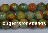 CMJ501 15.5 inches 10mm round rainbow jade beads wholesale