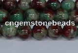 CMJ570 15.5 inches 8mm round rainbow jade beads wholesale