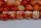 CMJ605 15.5 inches 8mm round rainbow jade beads wholesale