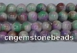 CMJ716 15.5 inches 6mm round rainbow jade beads wholesale