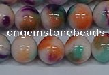 CMJ726 15.5 inches 12mm round rainbow jade beads wholesale