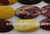 CMK110 15.5 inches 15*30mm faceted oval mookaite beads wholesale