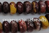 CMK122 15.5 inches 7*16mm faceted rondelle mookaite beads wholesale
