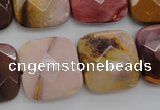 CMK162 15.5 inches 20*20mm faceted square mookaite beads wholesale