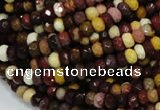 CMK20 15.5 inches 6*8mm faceted rondelle mookaite beads wholesale