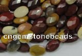 CMK24 15.5 inches 12*16mm faceted oval mookaite beads wholesale