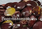CMK26 15.5 inches 18*25mm faceted oval mookaite beads wholesale