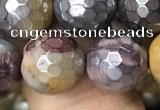 CMK341 15.5 inches 12mm faceted round AB-color mookaite beads