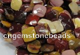 CMK40 15.5 inches 10*10mm faceted square mookaite beads wholesale