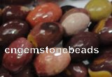 CMK46 15.5 inches 13*18mm faceted rice mookaite beads wholesale