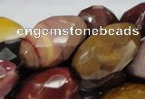 CMK47 15.5 inches 18*30mm faceted rice mookaite beads wholesale