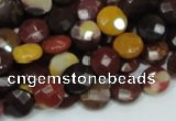 CMK51 15.5 inches 10mm faceted coin mookaite beads wholesale