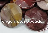 CMK54 15.5 inches 30mm faceted coin mookaite beads wholesale
