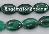 CMN105 15.5 inches 15*20mm oval natural malachite beads wholesale