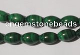 CMN212 15.5 inches 8*12mm rice natural malachite beads wholesale