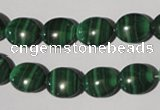 CMN271 15.5 inches 10*12mm oval natural malachite beads wholesale