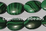 CMN275 15.5 inches 15*20mm oval natural malachite beads wholesale