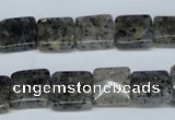 CMO15 15.5 inches 12*12mm square moss quartz beads wholesale