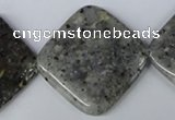 CMO21 15.5 inches 30*30mm diamond moss quartz beads wholesale