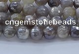 CMS1310 15.5 inches 4mm faceted round AB-color grey moonstone beads