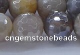 CMS1316 15.5 inches 16mm faceted round AB-color grey moonstone beads