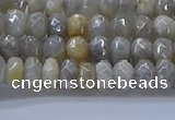 CMS1331 15.5 inches 4*6mm faceted rondelle AB-color grey moonstone beads