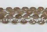 CMS1345 7.5 inches 13*18mm faceted oval moonstone beads