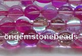 CMS1542 15.5 inches 8mm round synthetic moonstone beads wholesale