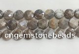 CMS1793 15.5 inches 18mm faceted coin AB-color moonstone beads
