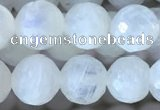 CMS1860 15.5 inches 6mm faceted round white moonstone gemstone beads