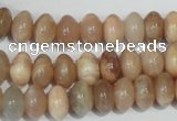 CMS519 15.5 inches 6*10mm rondelle moonstone beads wholesale