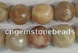CMS575 15.5 inches 16mm faceted round moonstone beads wholesale