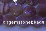 CMS590 15.5 inches 12mm faceted coin moonstone gemstone beads