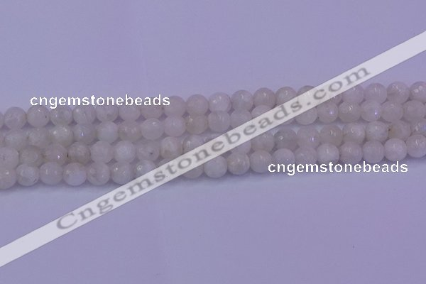 CMS662 15.5 inches 8mm faceted round white moonstone beads