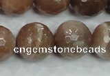 CMS82 15.5 inches 18mm faceted round moonstone gemstone beads