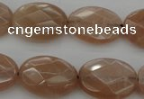 CMS967 15.5 inches 12*16mm faceted oval A grade moonstone beads