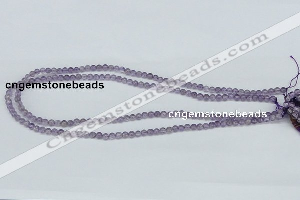CNA100 15.5 inches 4mm round natural amethyst beads wholesale