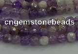 CNA1010 15.5 inches 4mm faceted round dogtooth amethyst beads