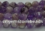 CNA1011 15.5 inches 6mm faceted round dogtooth amethyst beads